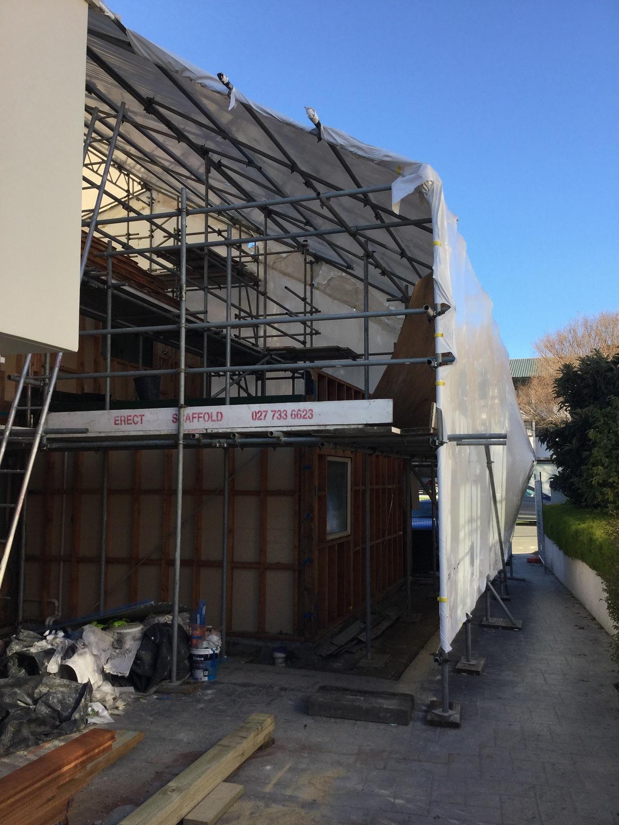Shrink Wrap Erect Scaffolding Christchurch Canterbury